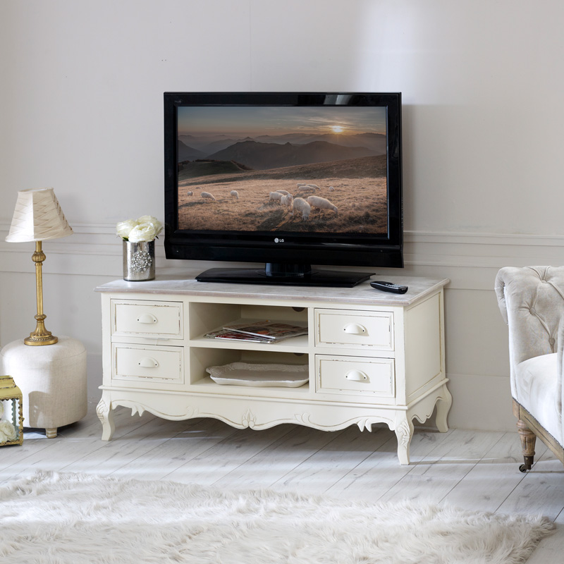 Large TV Cabinet with Drawers - Country Ash Range