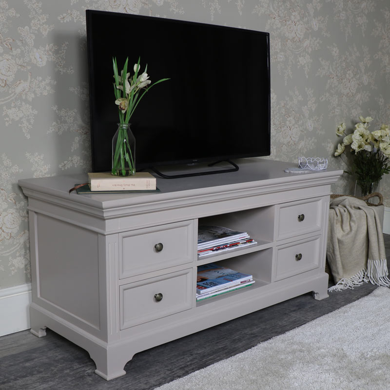 Large Grey TV/Media Cabinet – Daventry Taupe-Grey Range