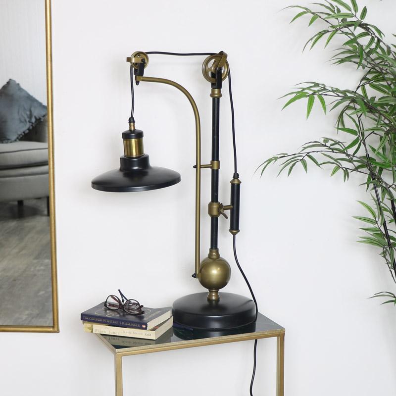 Large Vintage Adjustable Table Lamp