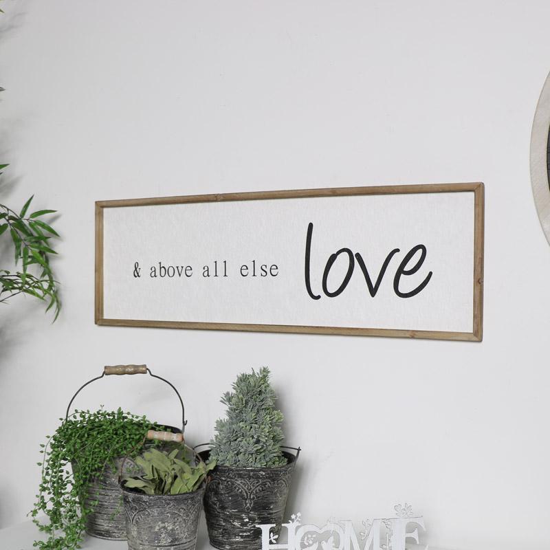 Large Wooden Love Plaque