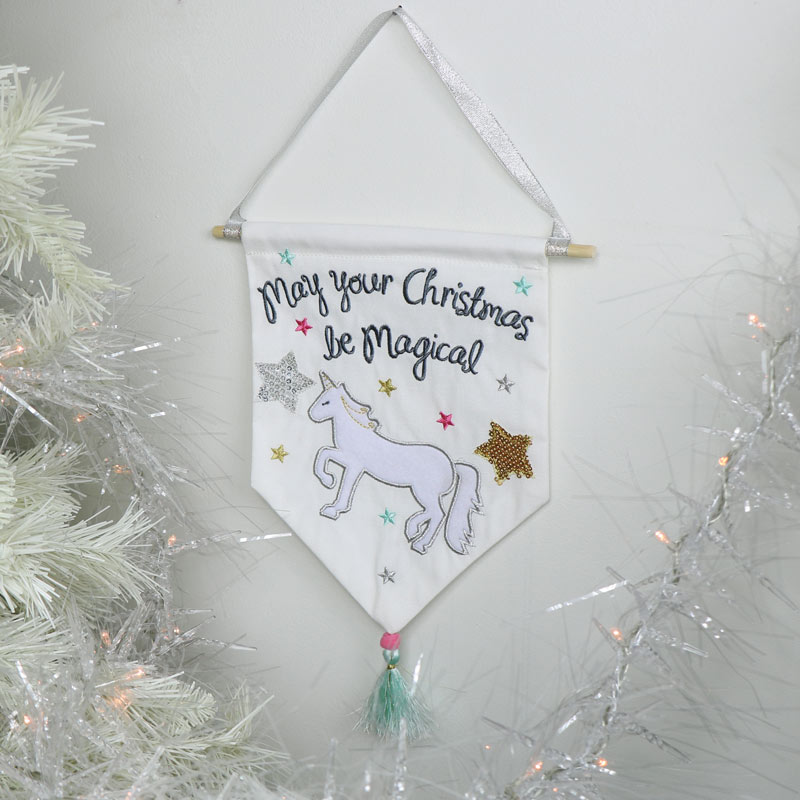 Magical Unicorn Christmas Pennant