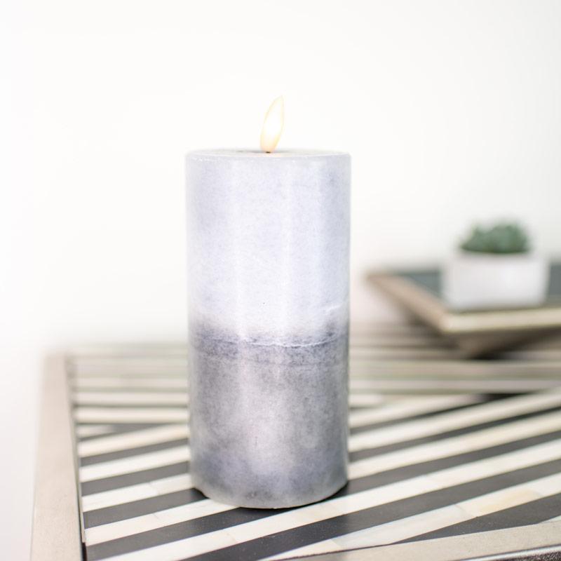Medium LED Grey Candle