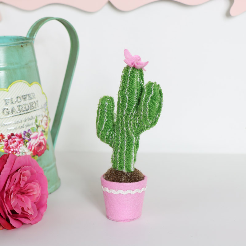 Mini Cactus Fabric Decoration