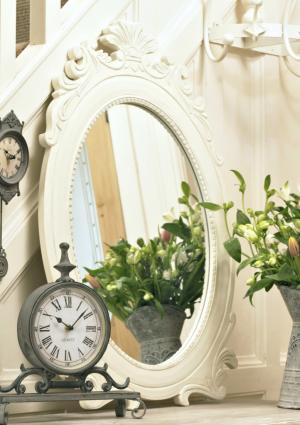 'Vintage' oval wall mirror