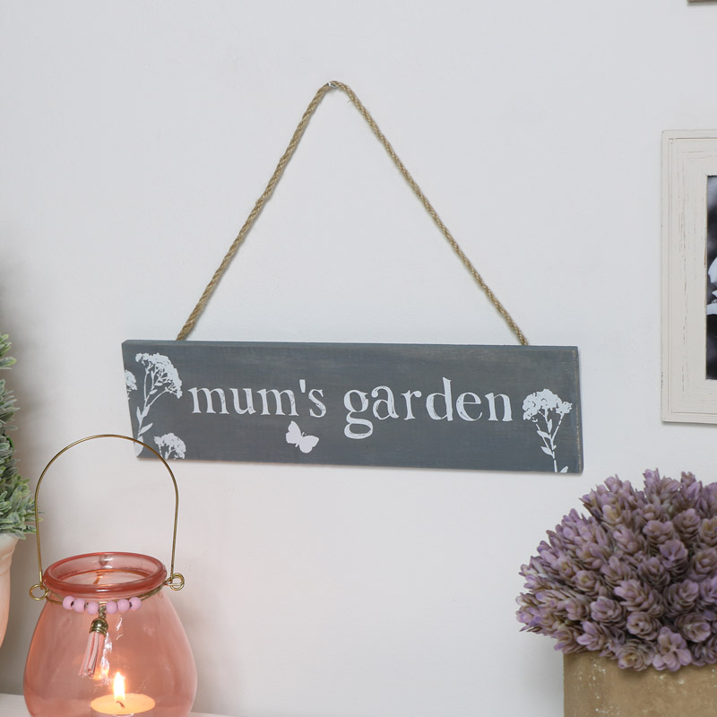 Mums Garden Wall Sign