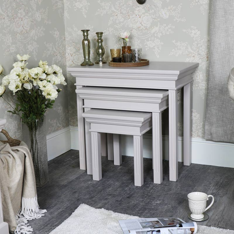 Grey Nest of 3 Tables – Daventry Taupe-Grey Range