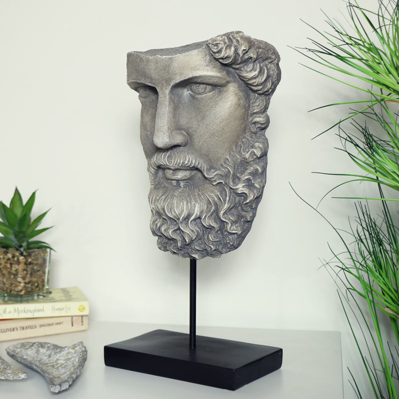 Ornamental Socrates Bust on Stand
