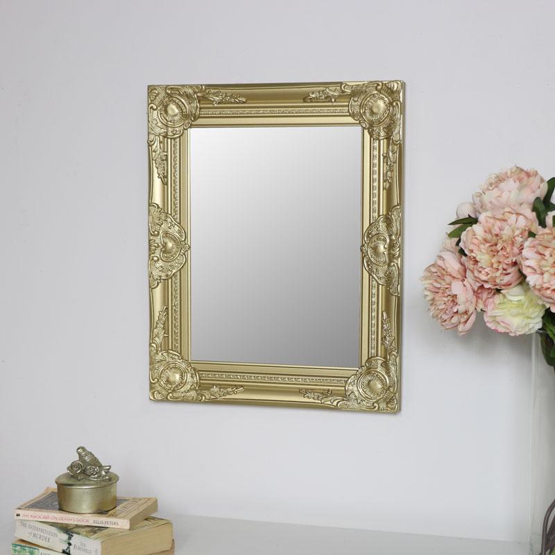 Ornate Gold Wall Mirror 42cm x 52cm