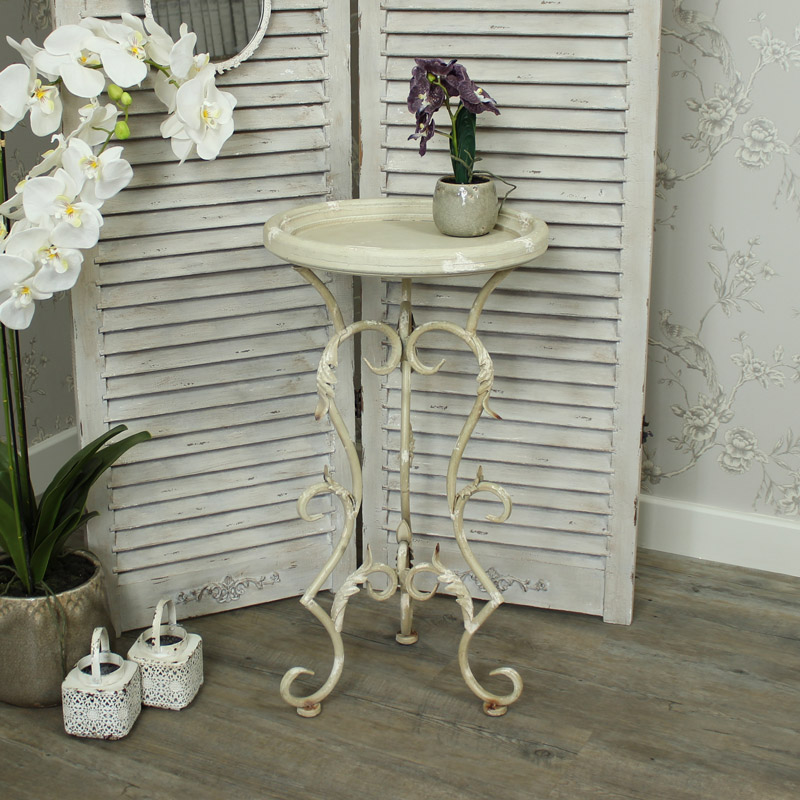 Ornate Metal Occasional Table