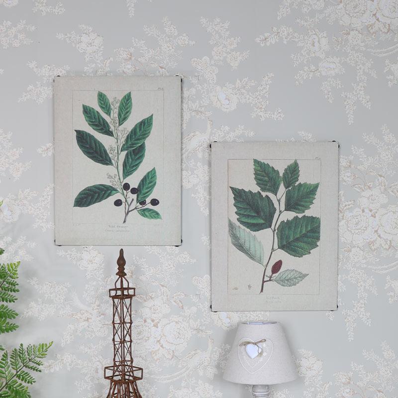 Pair of Botanical Leaf Prints