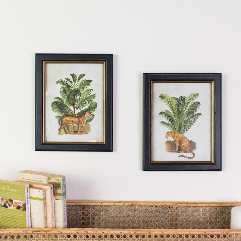 Pair of Framed Safari Wall Prints
