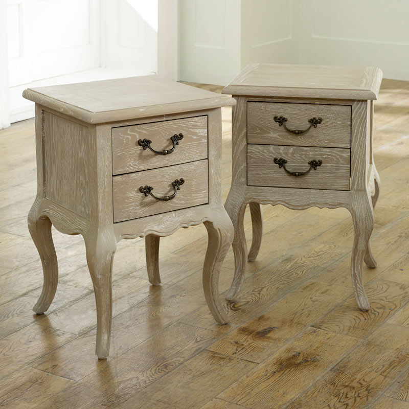 Details about Pair French style bedside tables set shabby chic vintage  bedroom furniture home