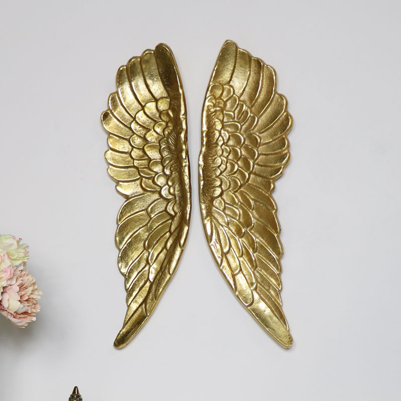 Pair of Large Gold Angel Wings