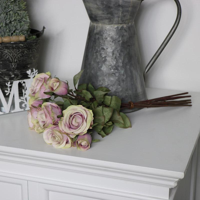 Pink Artificial Rose Flower Bouquet