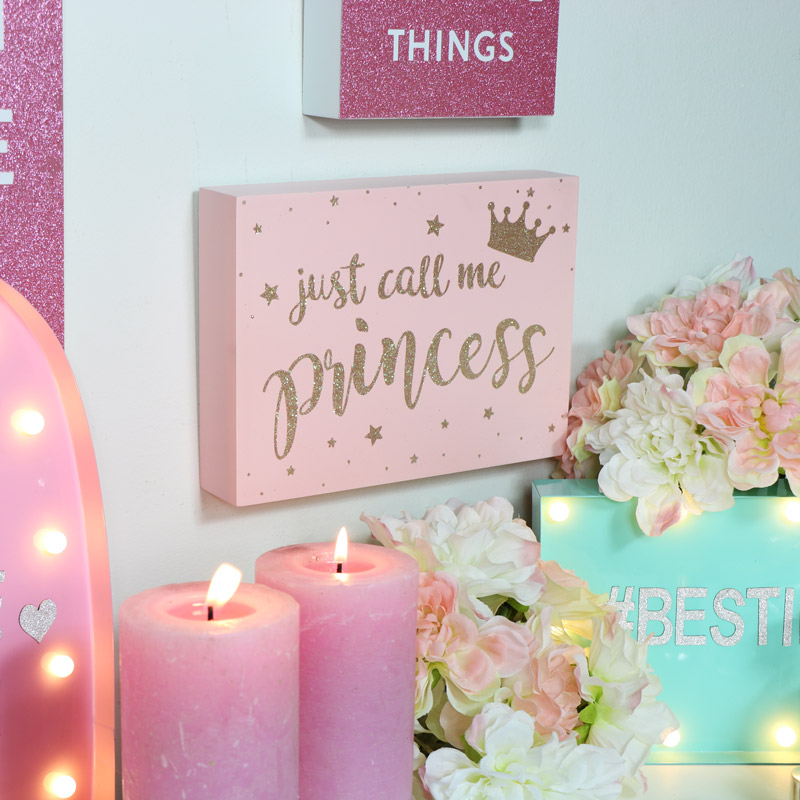 Pink 'Princess' Wall Plaque