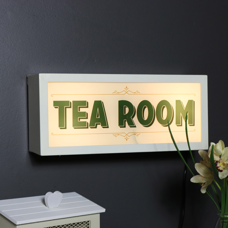 Retro 'Tea Room' Wall Mounted Box Light