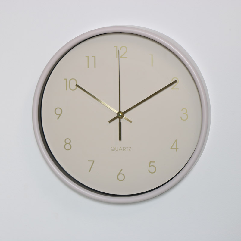 Round Cream Wall Clock