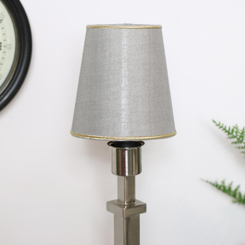 Round Grey Lampshade