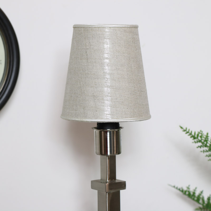Round Linen Lampshade