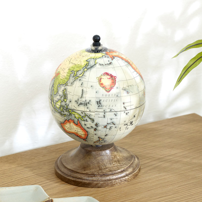 Rustic Desktop Globe on Stand