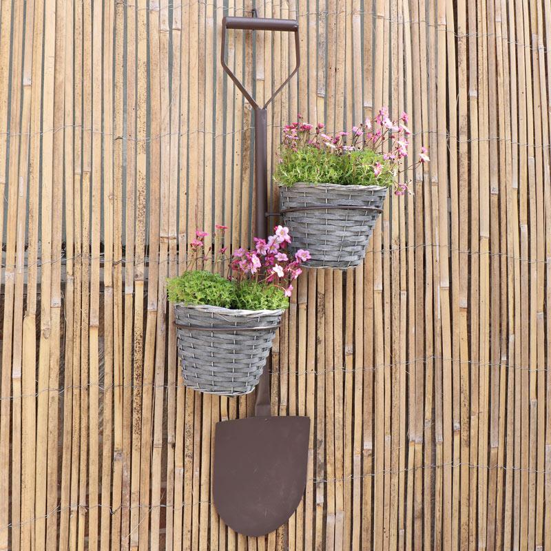 Rustic Garden Spade Planter
