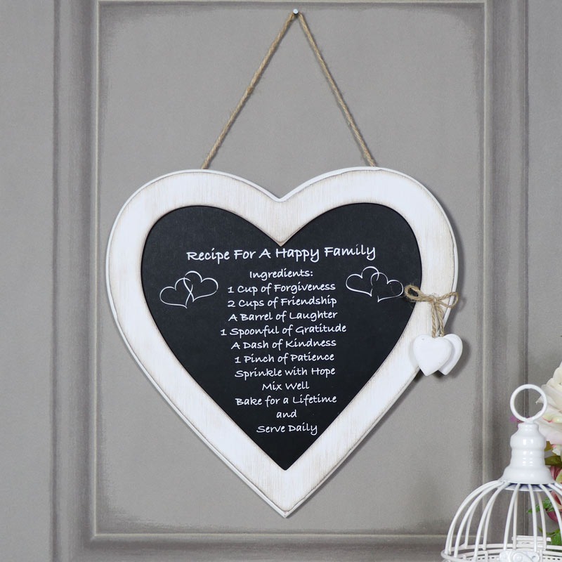 Quote Plaques: Pretty Wooden Family Heart Plaque Quote Sentiment Rustic