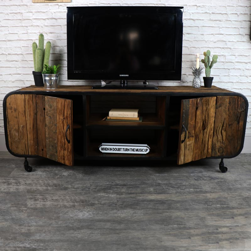 Rustic Industrial Style TV Cabinet/Media Unit