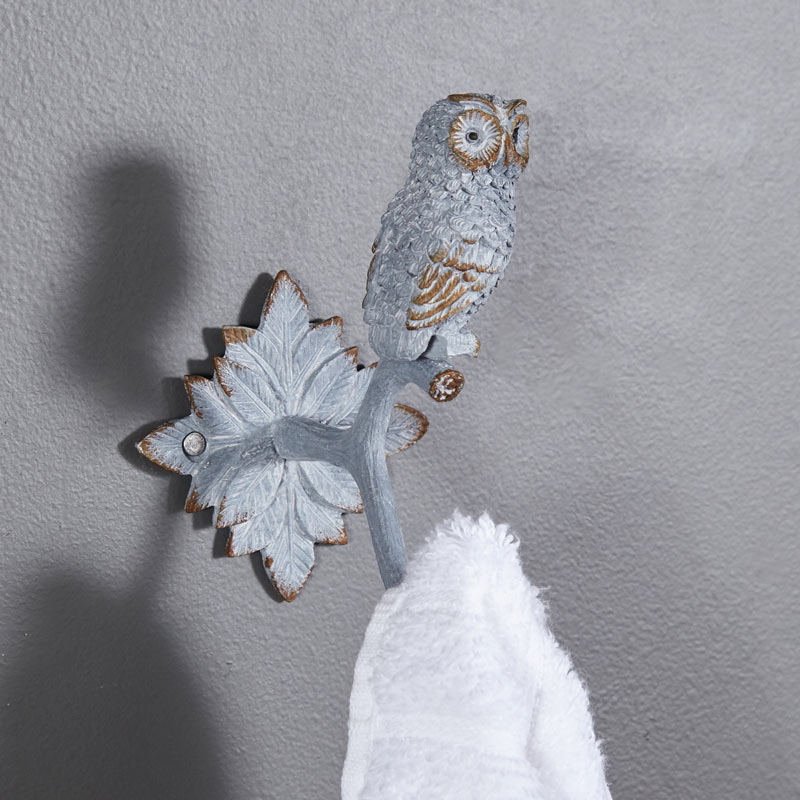 Rustic Metal Owl Coat Hook