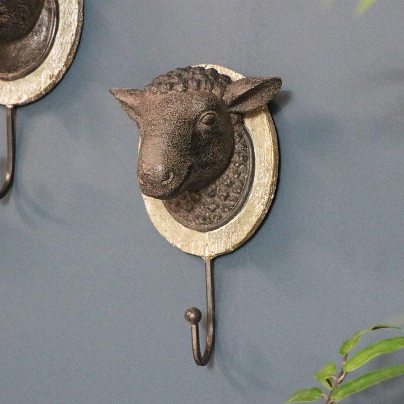 Rustic Wall Hook - Sheep