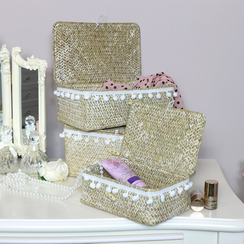 Storage Boxes - Boho Pom Pom Style