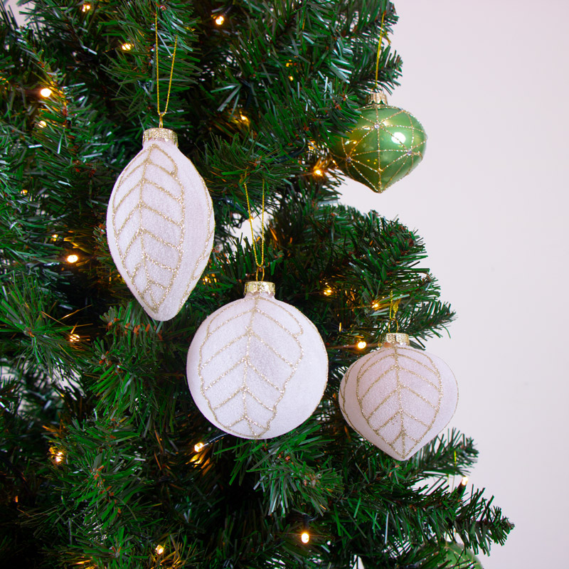 Set Of 3 Frosted Pink Baubles