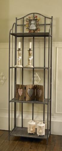 four shelf metal storage unit shelves grey black. Black Bedroom Furniture Sets. Home Design Ideas