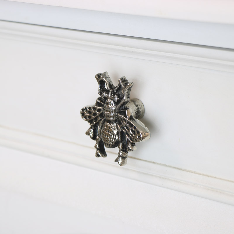 Silver Bumblebee Drawer Knob