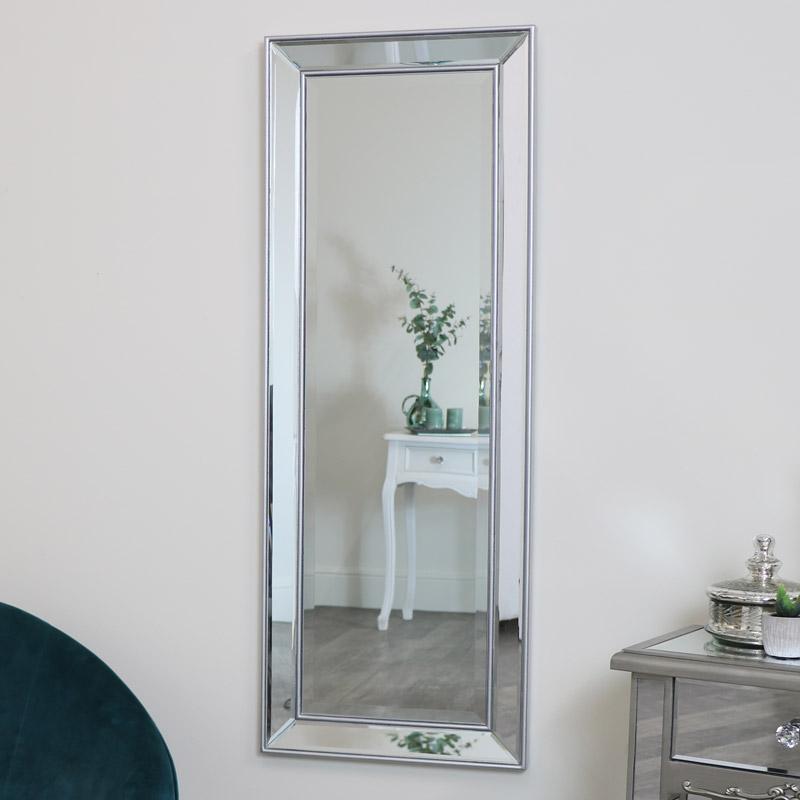 Silver Full Length Wall Mirror 45cm x 121cm