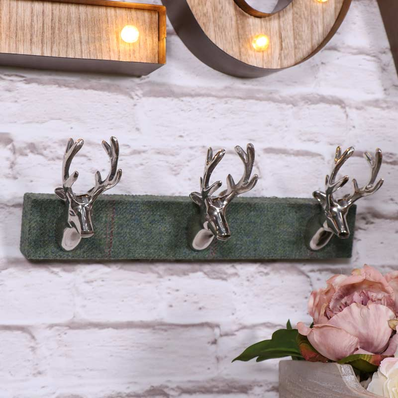 Silver Metal Stag Head Coat Hooks Melody Maison