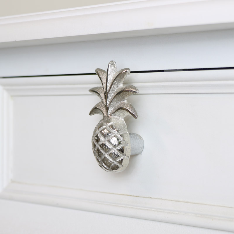 Silver Pineapple Drawer Knob