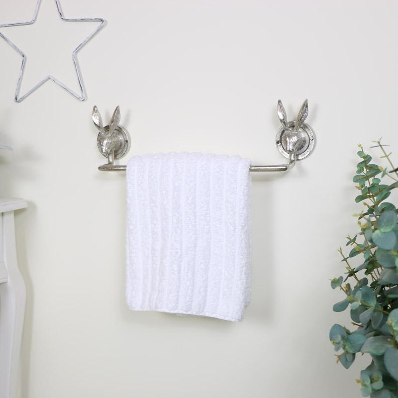Silver Rabbit Towel Rail
