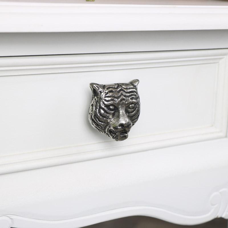Silver Tiger Drawer Knob