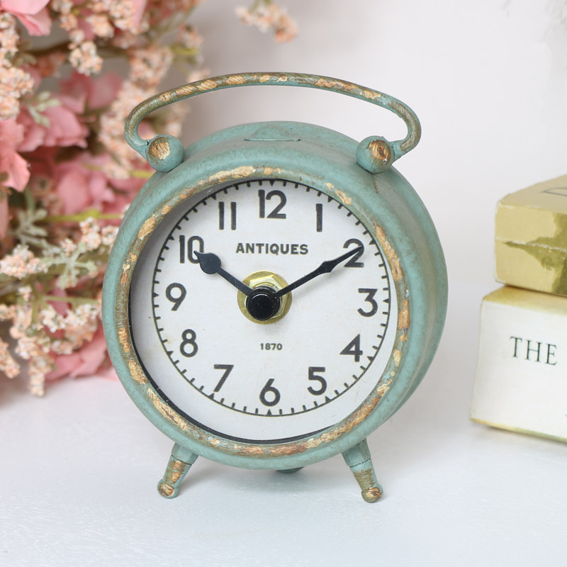 Small Grey Mantel Clock