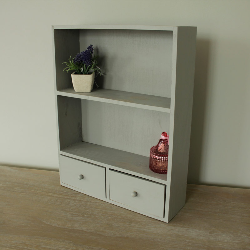 Small grey wood cabinet drawers shelf shelving bathroom - Small storage cabinet for bedroom ...
