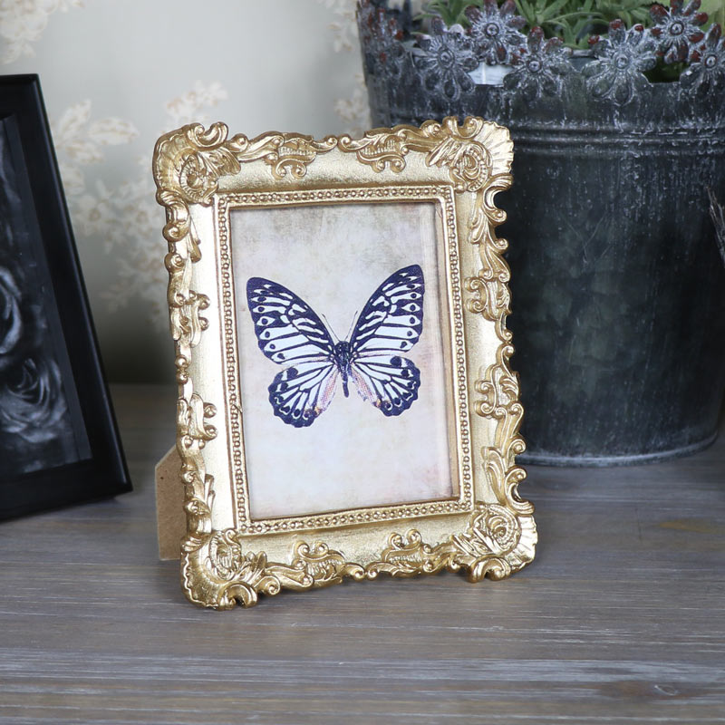 Small Ornate Gold Photo Frame
