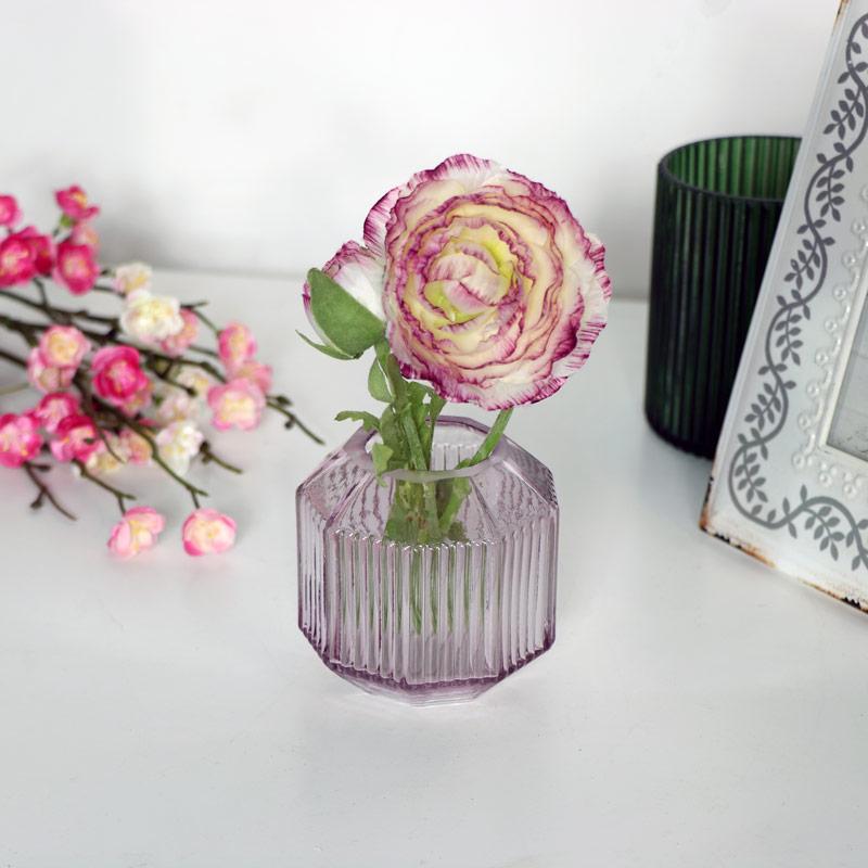 Small Pink Glass Tealight Holder