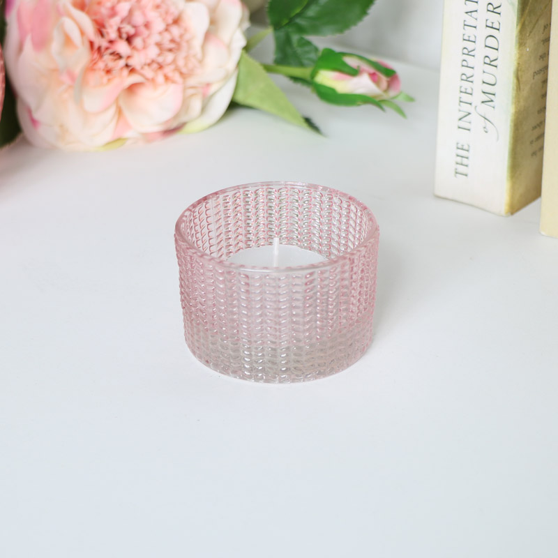 Small Pink Patterned Tealight Holder