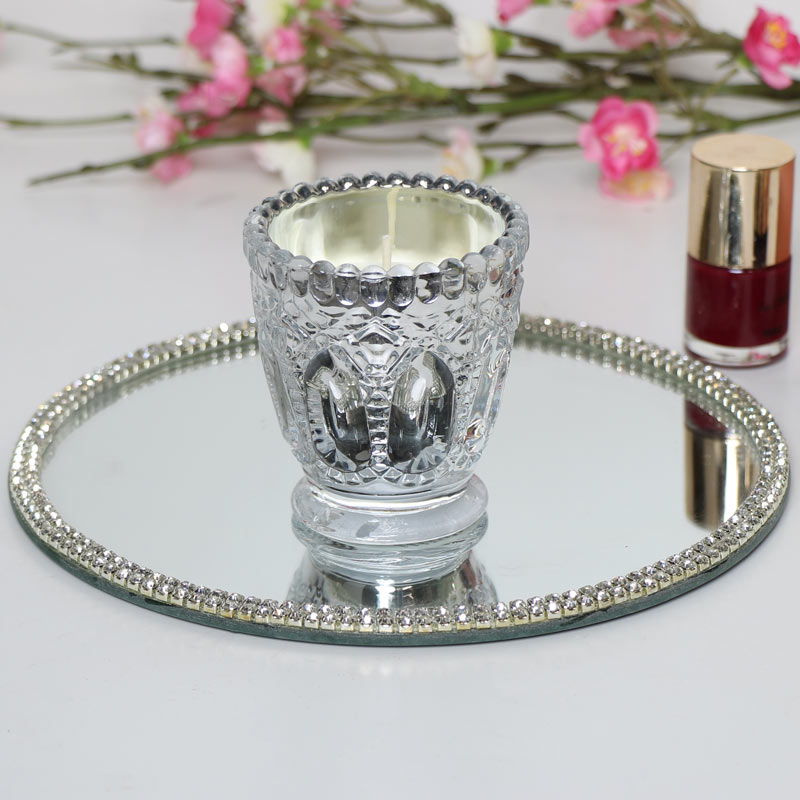 Small Silver Candle