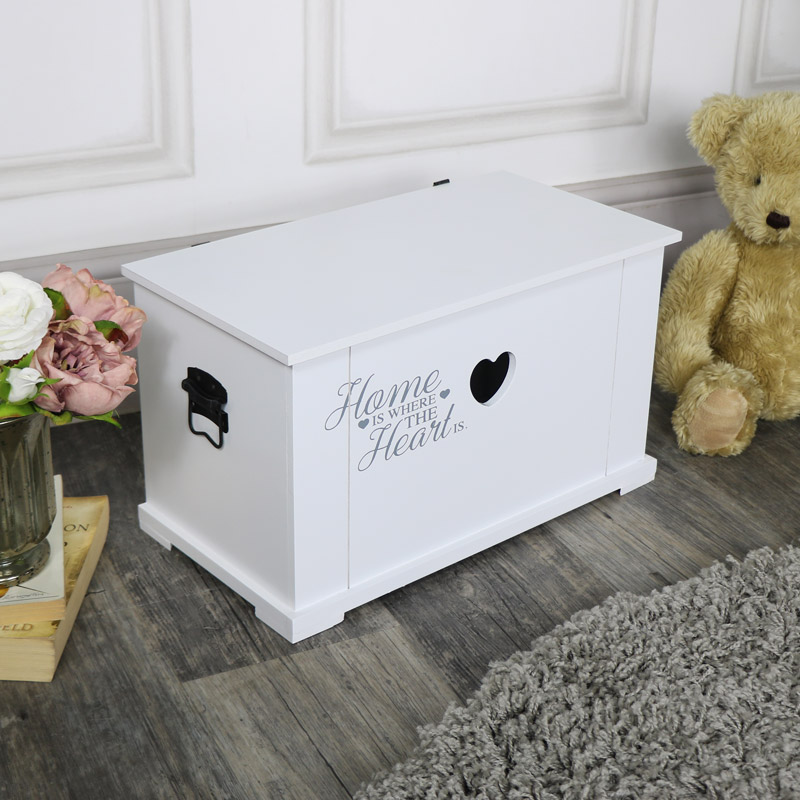 Small White Heart Storage Box