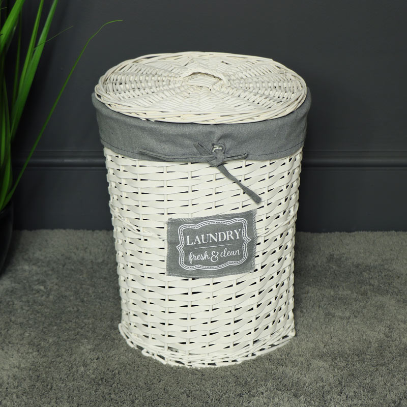 Small Willow Wicker Basket Laundry Hamper