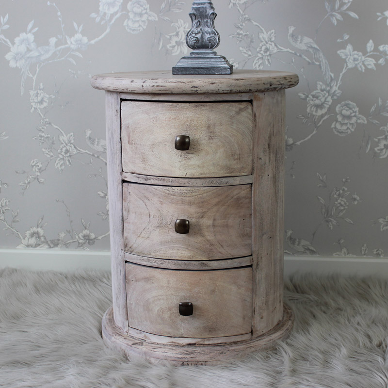 Studley Range - 3 Drawer Round Side Table