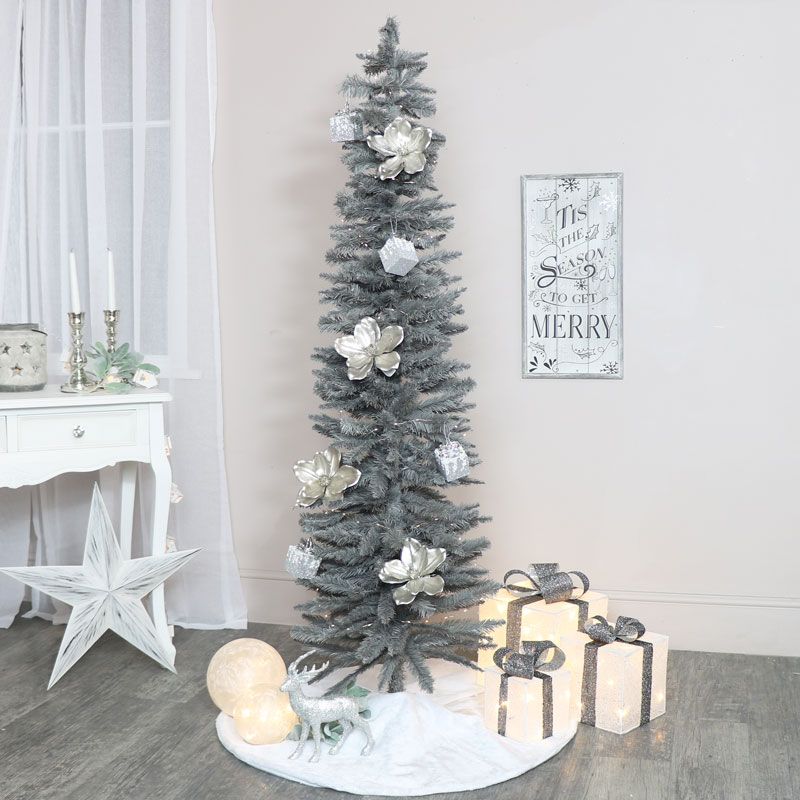 Tall Grey Christmas Tree