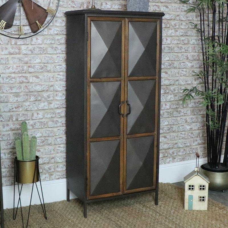 Tall Industrial Metal Storage Cabinet
