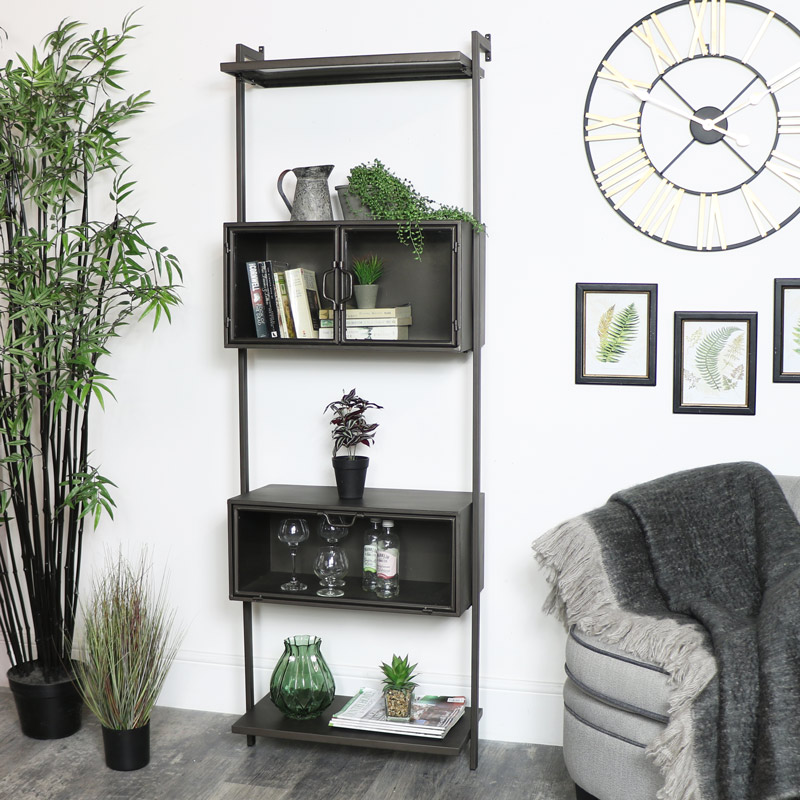 Tall Industrial Wall Shelving Cupboard Unit